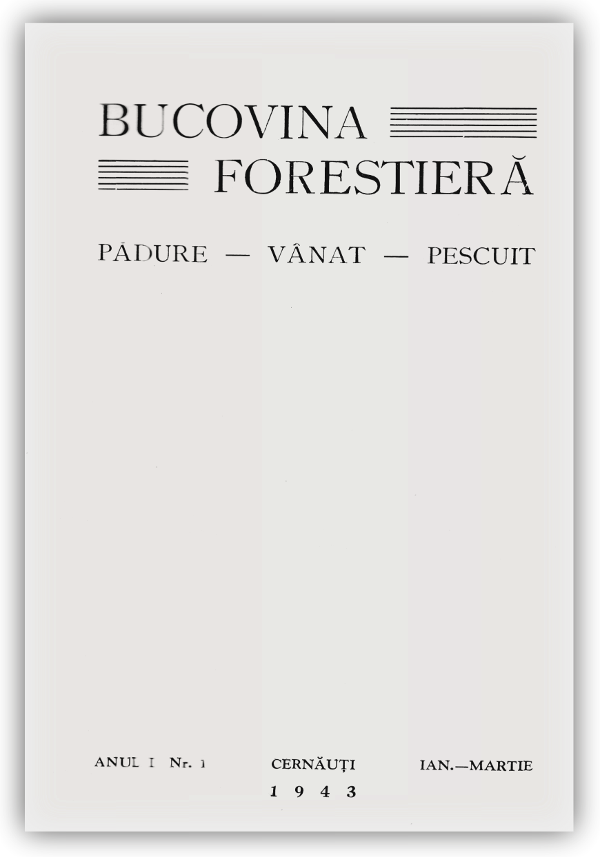 Vizualizare Vol. 1 Nr. 1 (1943)